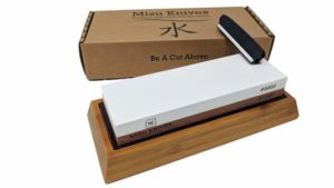 Mizu 1000 6000 Grit Premium Whetstone Knife Sharpening Stone Set