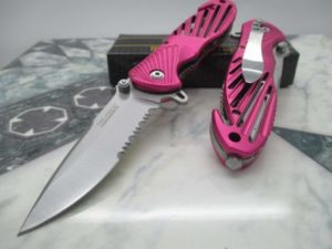 Tac-Force Assisted Opening Speedster Pink Pocket Knife