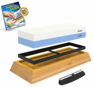Whetstone Knife Sharpening Stone 2-Sided Knife Sharpener Set