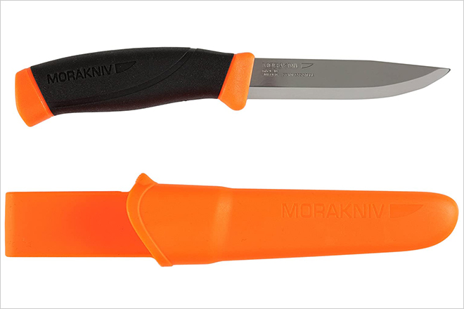 Companion Fixed Blade Outdoor Knife with Sandvik Stainless Steel Blade
